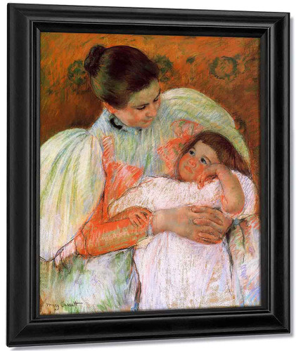 Nurse And Child By Mary Cassatt By Mary Cassatt