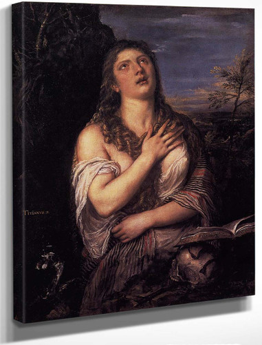 Penitent St Mary Magdalene By Titian