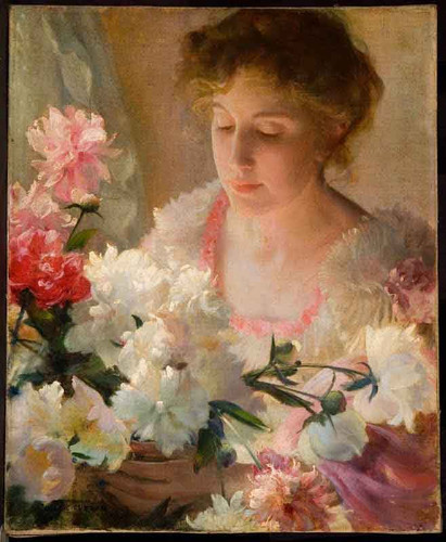 Peonies1 By Charles Courtney Curran By Charles Courtney Curran