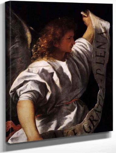 Polyptych Of The Resurrection Archangel Gabriel By Titian