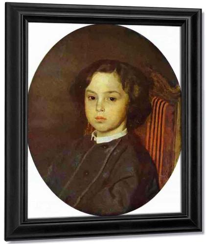 Portrait Of A Boy. By Ilia Efimovich Repin By Ilia Efimovich Repin