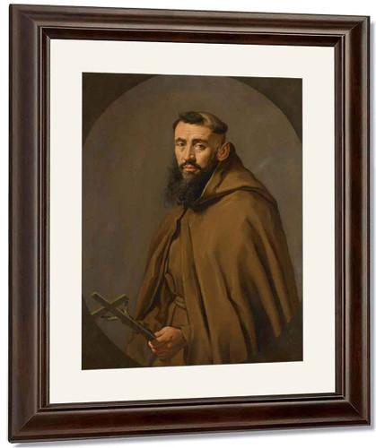 Portrait Of A Capuchin Friar By Giacomo Ceruti