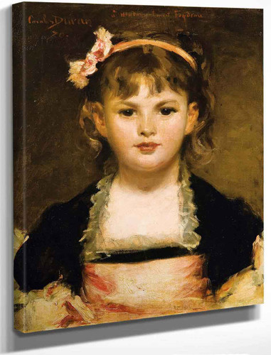 Portrait Of A Girl By Charles Auguste Emile Carolus Duran