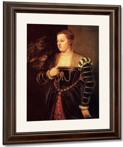 Portrait Of A Woman, Possibly Lavinia Vecellio By Titian