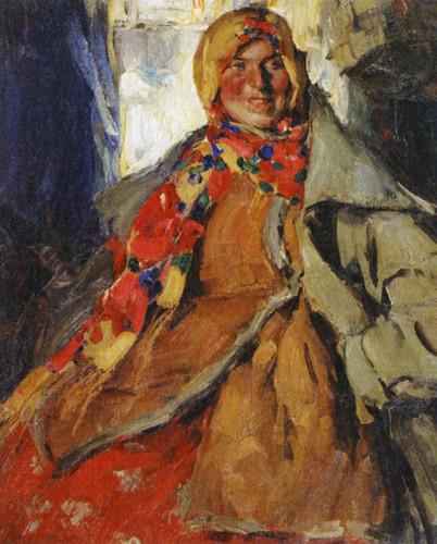 Portrait Of A Woman By Abram Efimovich Arkhipov