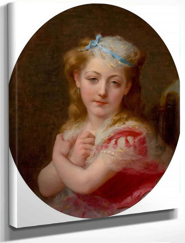 Portrait Of A Young Girl By Frederick Arthur Bridgman
