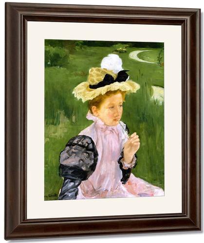 Portrait Of A Young Girl By Mary Cassatt By Mary Cassatt