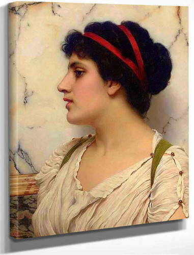 Portrait Of A Young Woman By John William Godward By John William Godward
