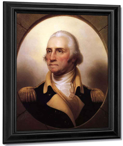 Portrait Of George Washington1 By Rembrandt Peale