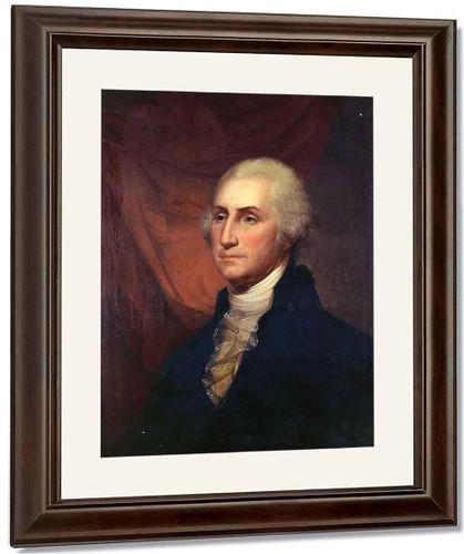 Portrait Of George Washington By Rembrandt Peale