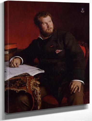 Portrait Of Jean Dagnan Bouveret By Pascal Dagnan Bouveret