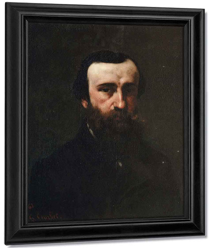 Portrait Of Monsieur Nicolle By Gustave Courbet By Gustave Courbet