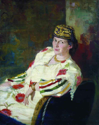 Portrait Of Patroness And Countess Mara Konstantinovna Oliv. By Ilia Efimovich Repin By Ilia Efimovich Repin