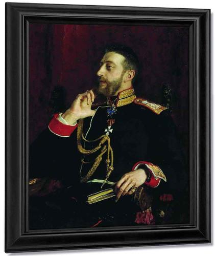 Portrait Of Poet Grand Prince Konstantin Konstantinovich Romanov By Ilia Efimovich Repin By Ilia Efimovich Repin