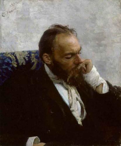 Portrait Of Professor Ivanov By Ilia Efimovich Repin By Ilia Efimovich Repin