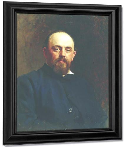 Portrait Of Railroad Tycoon And Patron Of The Arts Savva Ivanovich Mamontov. By Ilia Efimovich Repin By Ilia Efimovich Repin