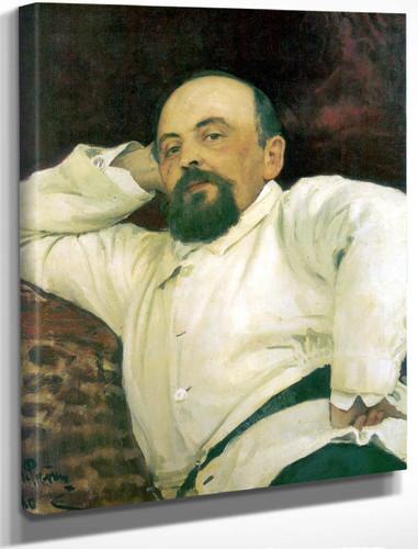 Portrait Of Savva Mamontov. By Ilia Efimovich Repin By Ilia Efimovich Repin
