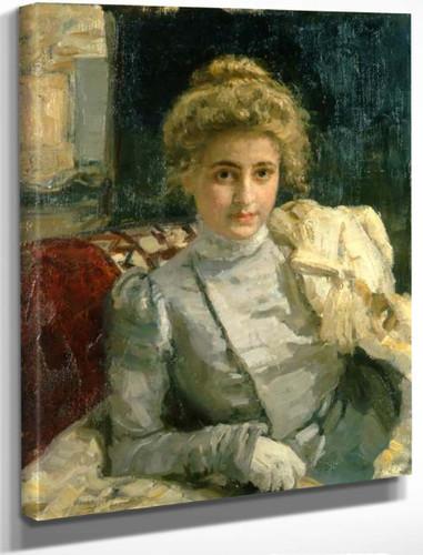 Portrait Of Tevashova By Ilia Efimovich Repin By Ilia Efimovich Repin