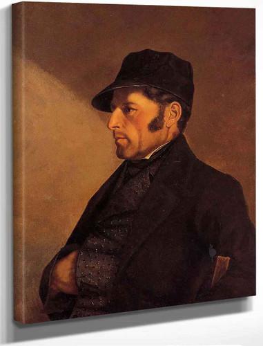 Portrait Of The Artist's Father, Regis Courbet By Gustave Courbet By Gustave Courbet