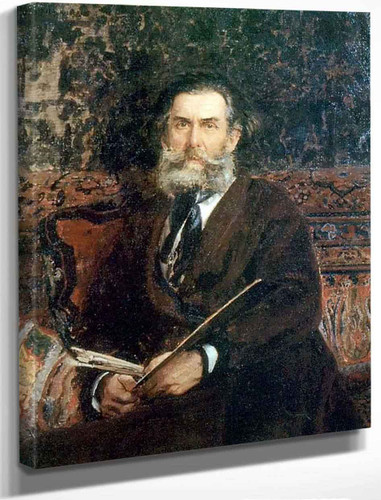 Portrait Of The Artist A. P. Bogolubov By Ilia Efimovich Repin By Ilia Efimovich Repin