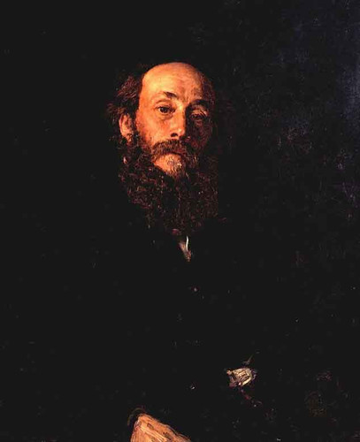 Portrait Of The Artist Nikolay Gay. By Ilia Efimovich Repin By Ilia Efimovich Repin