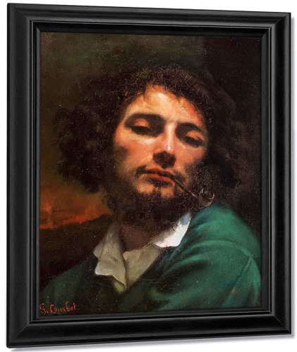 Portrait Of The Artist By Gustave Courbet By Gustave Courbet