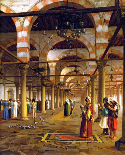 Prayer In The Mosque By Jean Leon Gerome By Jean Leon Gerome
