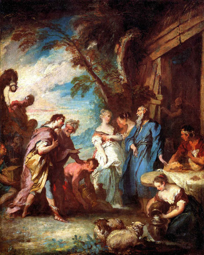 Rebecca Recevant Des Mains Deliezer Les Presents Dabraham By Francois Boucher