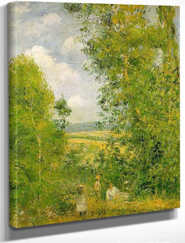 Resting In The Woods At Pontoise By Camille Pissarro By Camille Pissarro