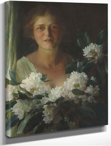 Rhododendrons By Charles Courtney Curran By Charles Courtney Curran
