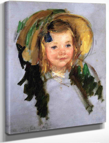 Sara In A Bonnet By Mary Cassatt By Mary Cassatt