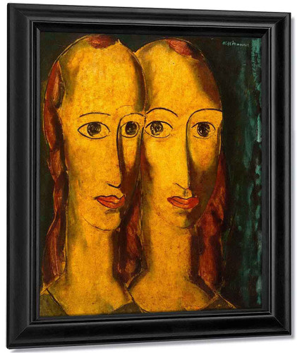 Sisters By Alfred Henry Maurer By Alfred Henry Maurer
