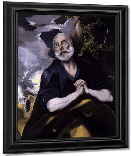 St Peter In Penitence1 By El Greco By El Greco