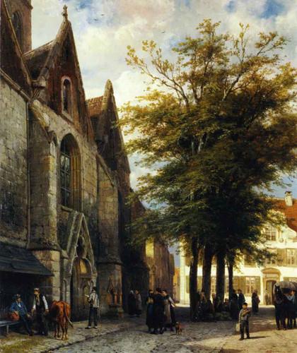 St. Joseph's Church In Hamelen By Cornelius Springer