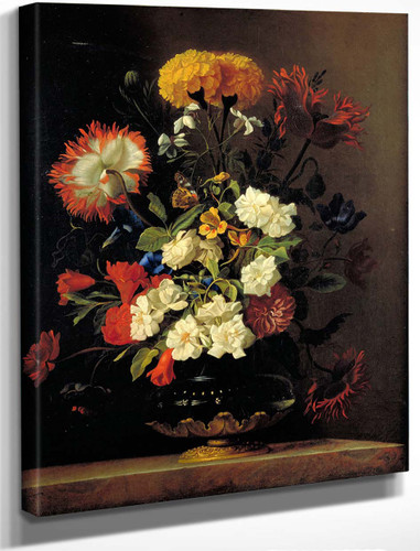 Still Life In A Vase By Willem Van Aelst By Willem Van Aelst