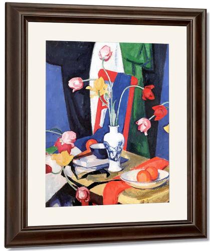 Still Life With Tulips By Samuel John Peploe