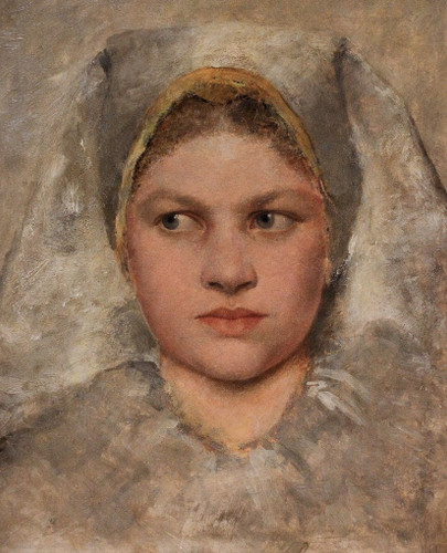 Study Of A Head Of A Hannakin By Gustav Klimt By Gustav Klimt
