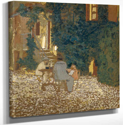 Repast In A Garden By Edouard Vuillard Art Reproduction