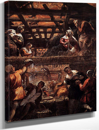 The Adoration Of The Shepherds 1 By Jacopo Tintoretto
