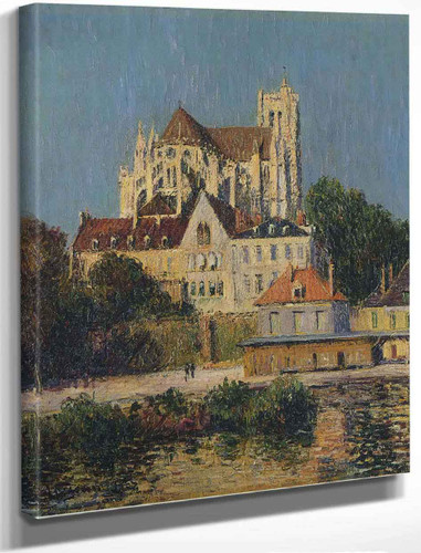 The Auxerre Cathedral 2 By Gustave Loiseau By Gustave Loiseau