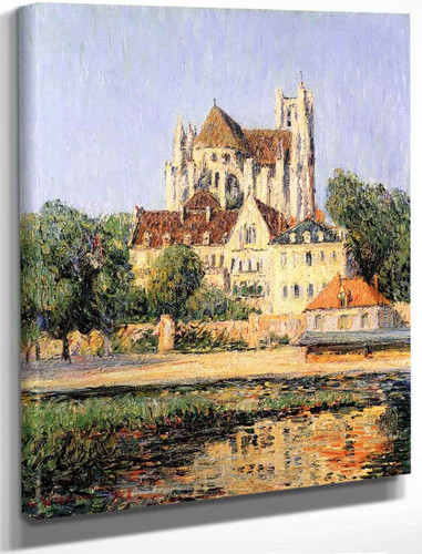 The Auxerre Cathedral 4 By Gustave Loiseau By Gustave Loiseau