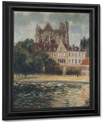 The Auxerre Cathedral 6 By Gustave Loiseau By Gustave Loiseau