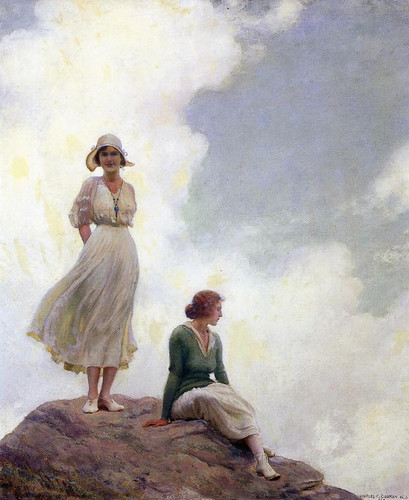 The Boulder By Charles Courtney Curran By Charles Courtney Curran