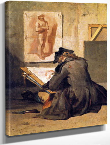 The Draughtsman By Jean Baptiste Simeon Chardin By Jean Baptiste Simeon Chardin