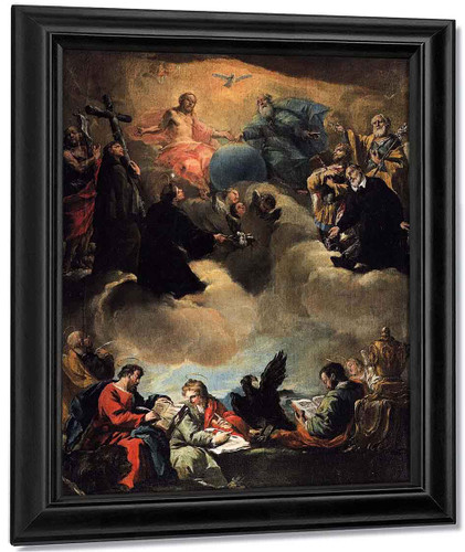 The Four Evangelists And The Holy Trinity With Saints By Francesco Guardi
