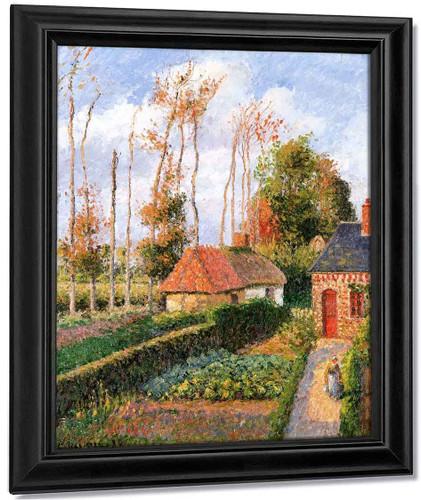 The Garden Of The Ango Manor, Varengeville, Sunset By Camille Pissarro By Camille Pissarro