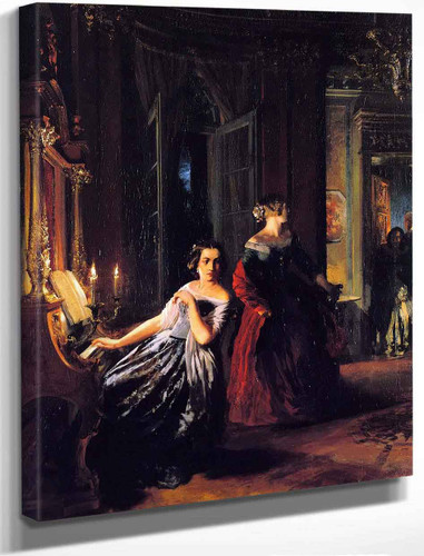 The Interruption By Adolph Von Menzel By Adolph Von Menzel