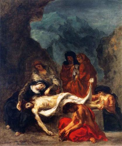 The Lamentation1 By Eugene Delacroix By Eugene Delacroix