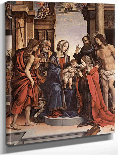 The Marriage Of St Catherine By Filippino Lippi