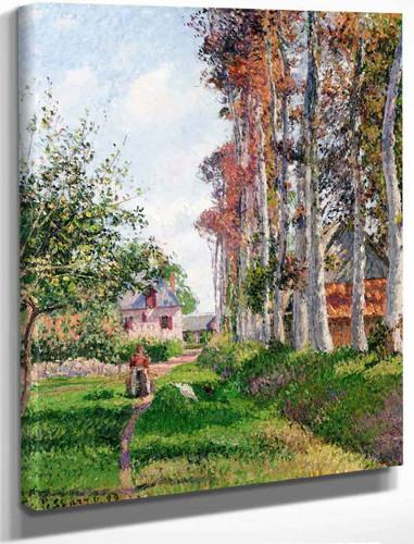 The Orchard Of The D'ango Manor, Varengeville, Morning By Camille Pissarro By Camille Pissarro